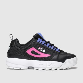 Fila Black & Navy Disruptor Ii Monomesh Womens Trainers