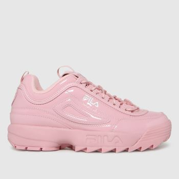 Fila Pink Disruptor Ii Heart Womens Trainers