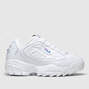 Fila White Disruptor 3 c2namevalue::Womens Trainers