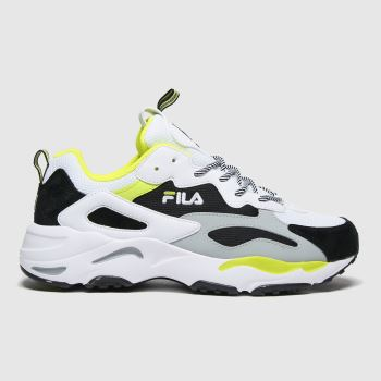 Fila White & Black Ray Tracer Trainers
