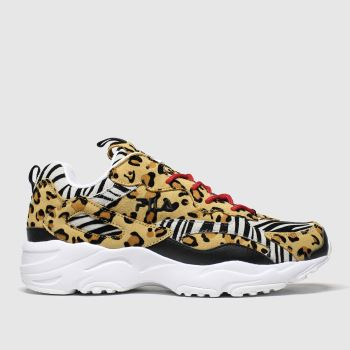 Fila Black & Brown Ray Tracer Animal c2namevalue::Womens Trainers