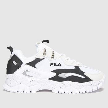 Fila white & black ray tracer tr2 trainers