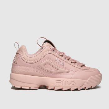 Fila Pale Pink Disruptor Ii Premium Womens Trainers