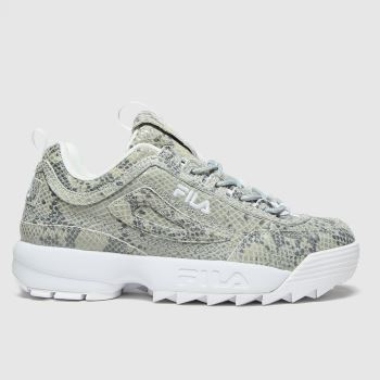 Fila Light Grey Disruptor Ii Snake Womens Trainers