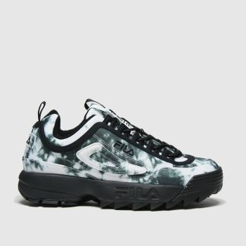 Fila Black & White Disruptor Ii Tie Dye Womens Trainers