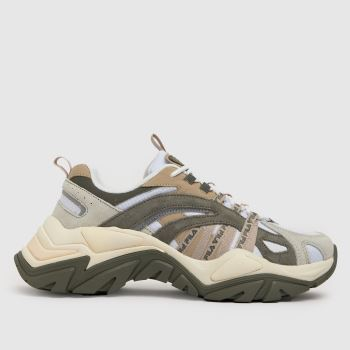 Fila White & Brown Interation 2 Womens Trainers