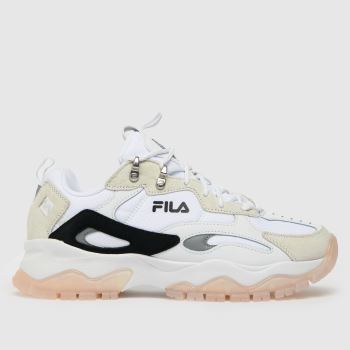 Fila White & Pink Ray Tracer Tr2 Womens Trainers