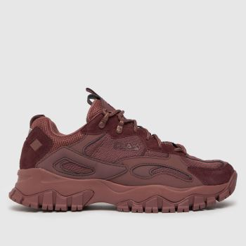 Fila Burgundy Ray Tracer Tr2 Womens Trainers