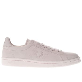 FRED PERRY PALE PINK B721 BRUSHED COTTON TRAINERS