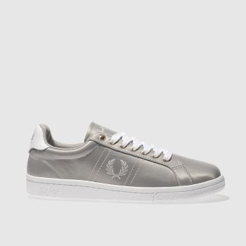 Fred Perry Grey B721 Satin Womens Trainers
