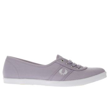 FRED PERRY LILAC AUBREY TWILL TRAINERS