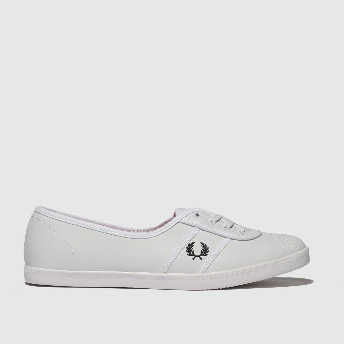 Fred Perry White Aubrey Trainers