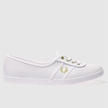 Fred Perry White & Gold Aubrey Womens Trainers