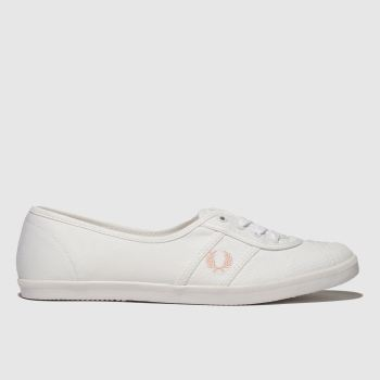 Fred Perry White & Pink Aubrey Womens Trainers