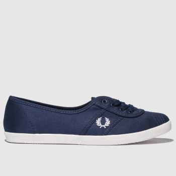Fred Perry Navy Aubrey Womens Trainers