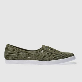 Fred Perry Khaki Aubrey Womens Trainers