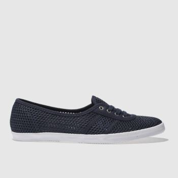 Fred Perry Navy & White Aubrey Womens Trainers