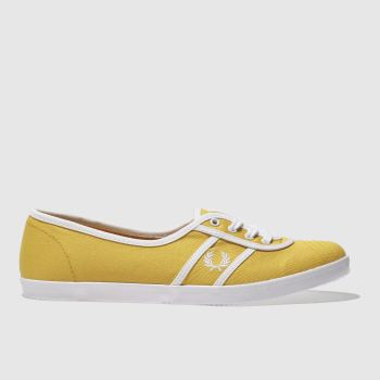 Fred Perry Yellow Aubrey Twill Womens Trainers