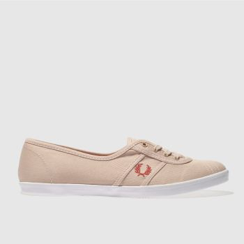 Fred Perry Pale Pink Aubrey Twill Womens Trainers