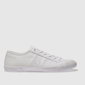Fred Perry White Ellerton Canvas Womens Trainers