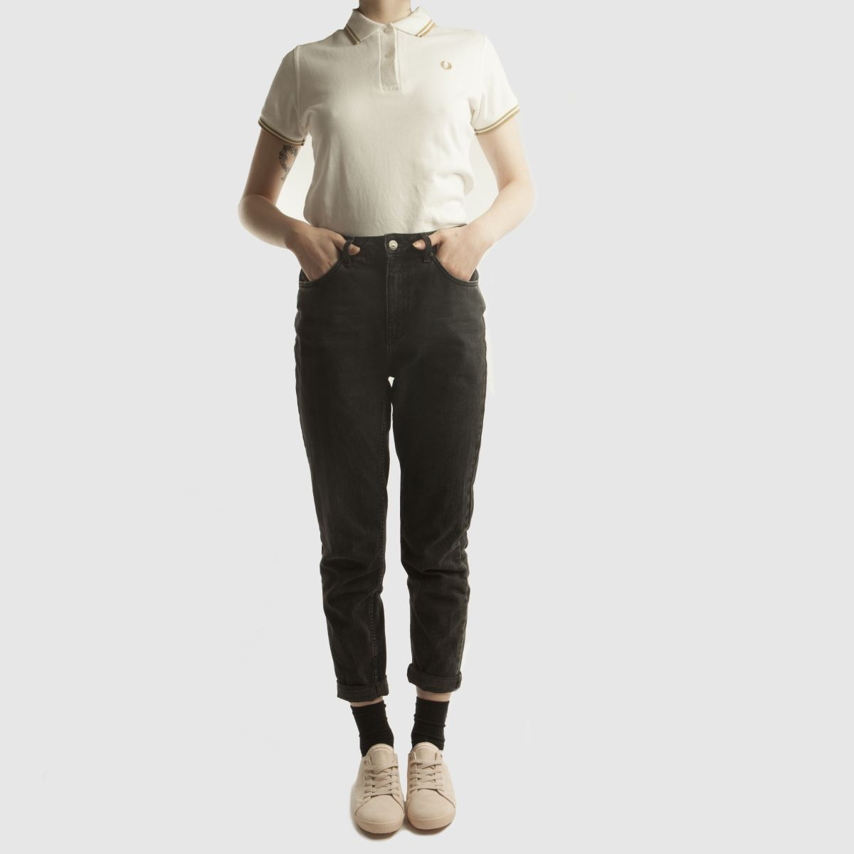 Damen Rosa fred perry Kingston Microfibre Sneaker | schuh Gute Qualität beliebte Schuhe