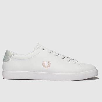 Fred Perry White Lottie Leather Womens Trainers
