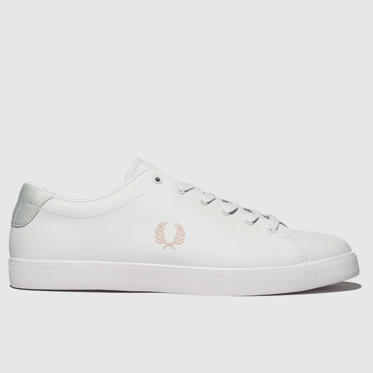 Fred Perry White Lottie Leather Trainers