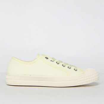 schuh Yellow Magnolia Canvas Lace Up Womens Trainers