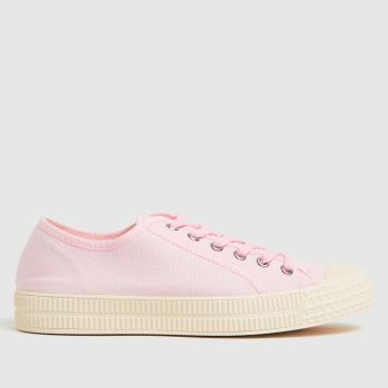 schuh Pale Pink Magnolia Canvas Lace Up Womens Trainers