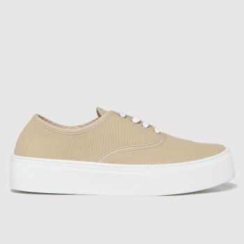 schuh Natural Miracle Canvas Flatform Lace Womens Trainers