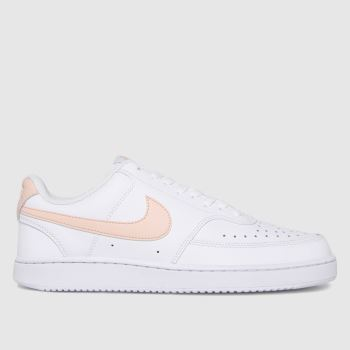 Nike White Court Vision Low Womens Trainers