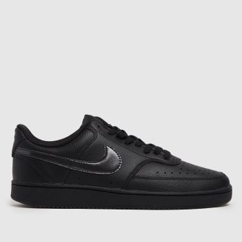 Nike Black Court Vision Low Womens Trainers