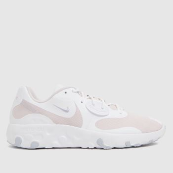 Nike White & Pink Renew Lucent 2 Trainers