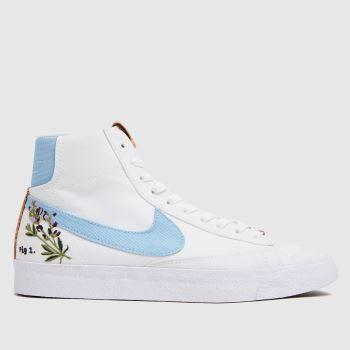 Nike White & Pl Blue Blazer Mid 77 Se Womens Trainers