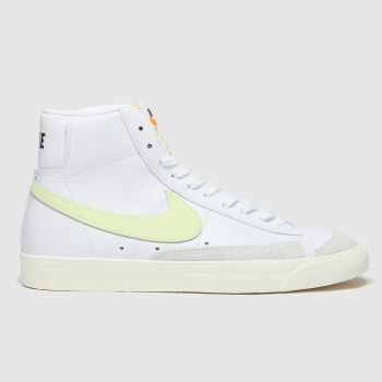 Nike White & Green Blazer Mid 77 Trainers