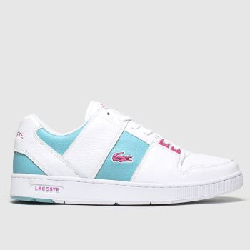 Lacoste White & Green Thrill Womens Trainers