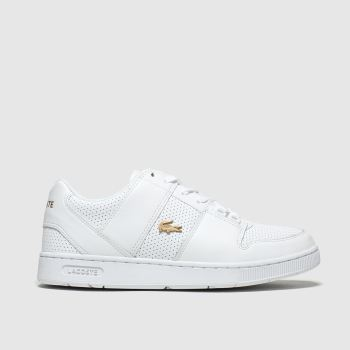 Lacoste White & Gold Thrill Trainers
