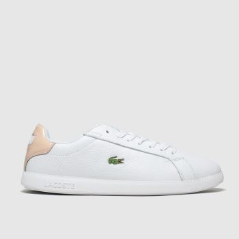 Lacoste White & Beige Graduate c2namevalue::Womens Trainers