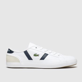 Lacoste White & Navy Sideline Womens Trainers