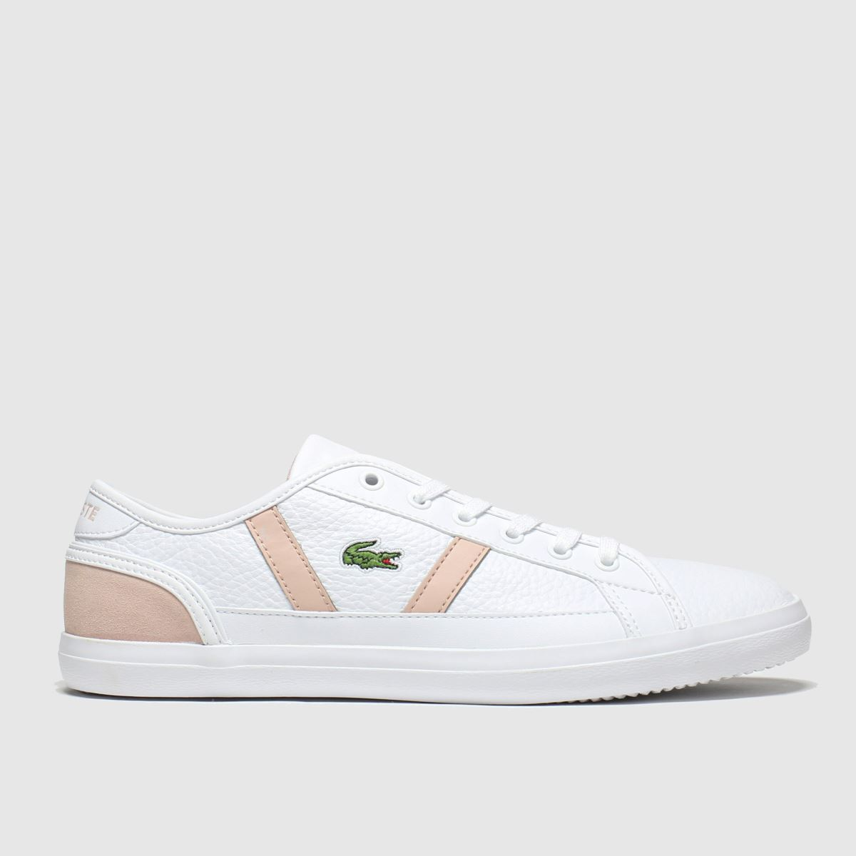 Lacoste White & Pink Sideline Trainers
