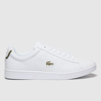 Lacoste White & Gold Carnaby Evo Womens Trainers#