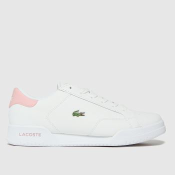 Lacoste White Twin Serve Womens Trainers