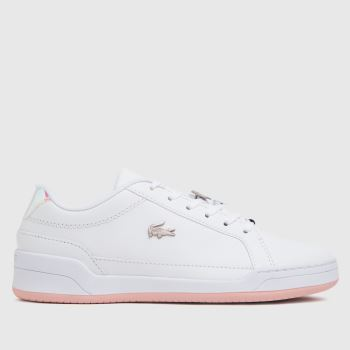 Lacoste White & Pink Challenge Womens Trainers