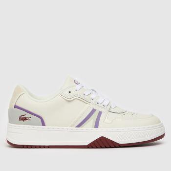 Lacoste White & Purple L001 Womens Trainers
