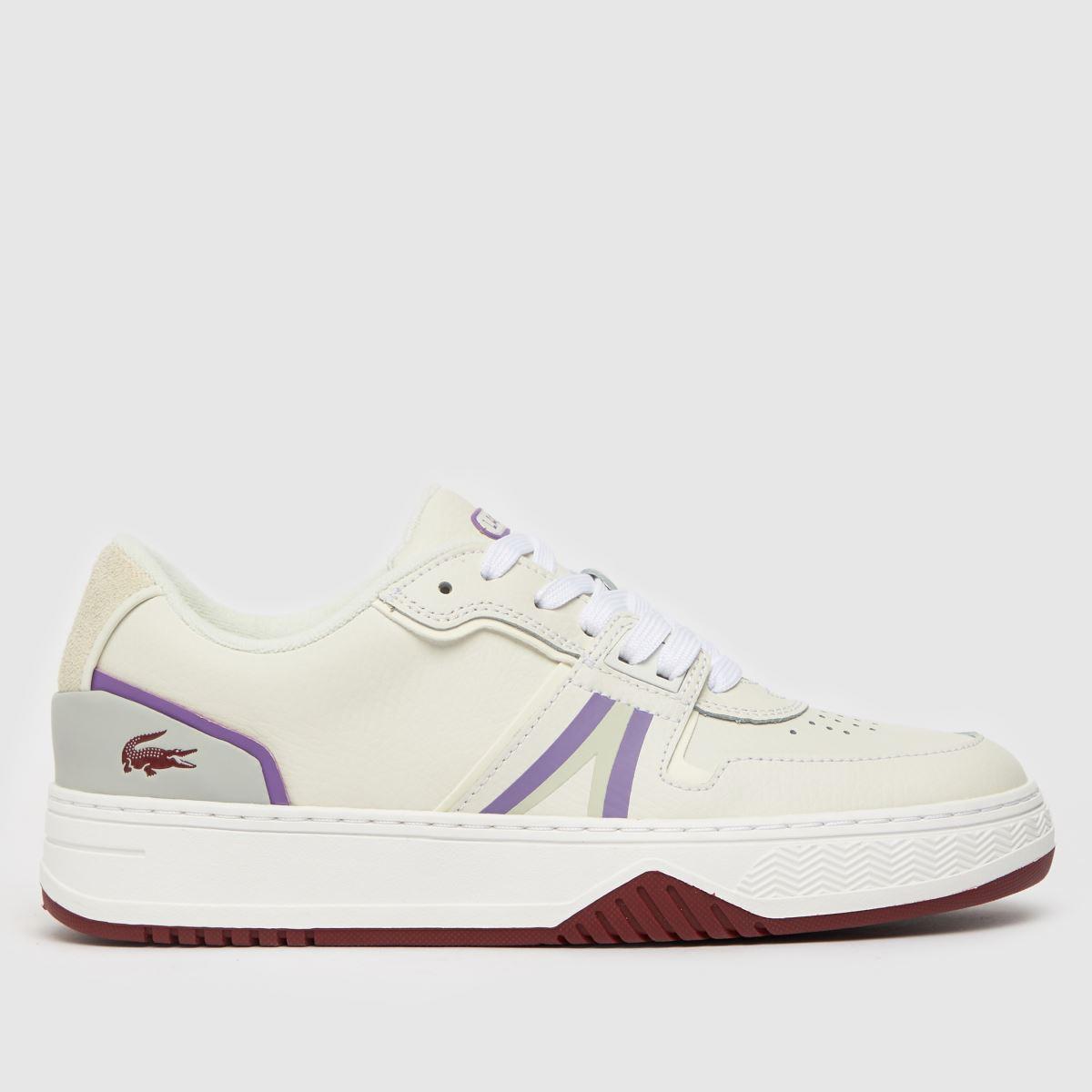 Lacoste White & Purple L001 Trainers