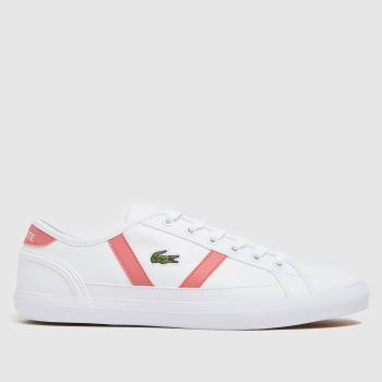 Lacoste White & Pink Sideline Womens Trainers