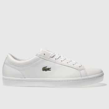 Lacoste White Straightset c2namevalue::Womens Trainers