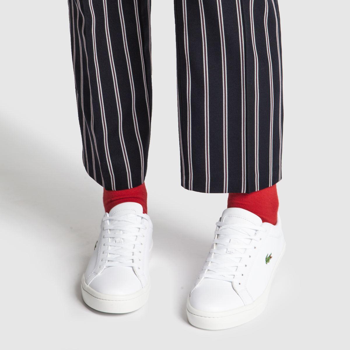 Damen Weiß lacoste Straightset Sneaker | schuh Gute Qualität beliebte Schuhe