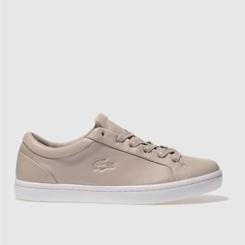 LACOSTE PALE PINK STRAIGHTSET TRAINERS