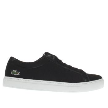LACOSTE BLACK & WHITE L-12-12 TRAINERS